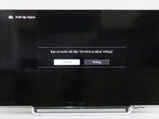 cách dò kênh trên tivi sony