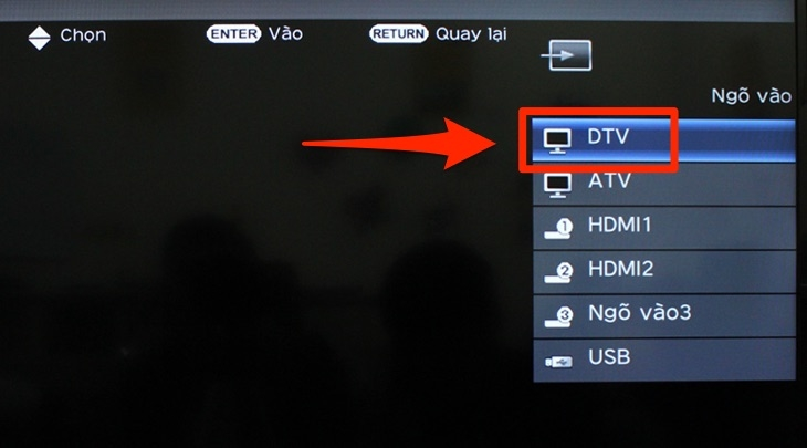Hướng dẫn do kênh kỷ thuật số dvb t2 trên tivi sharp