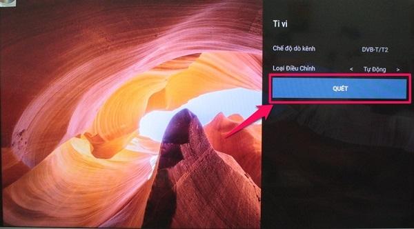 Hướng dẫn dò kênh truyền hình số DVB T2 trên Tivi Skywoth